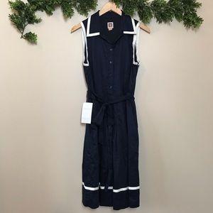Anne Klein Nautical Dress With Pockets